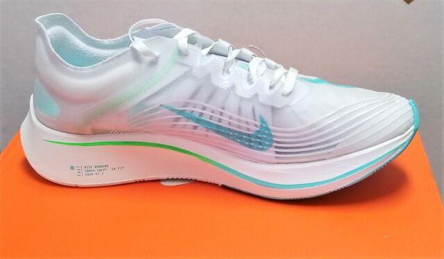 18a4e99c88a6 Nike Zoom Fly SP White Rage Green-Summit White Sneakers Men s 10.5 Women 12