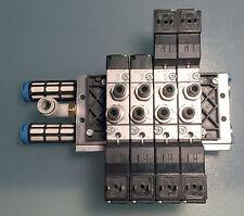 FESTO blocco PRS-ME-1/8-4 ed elettrovalvole MEH-5/2-18-B