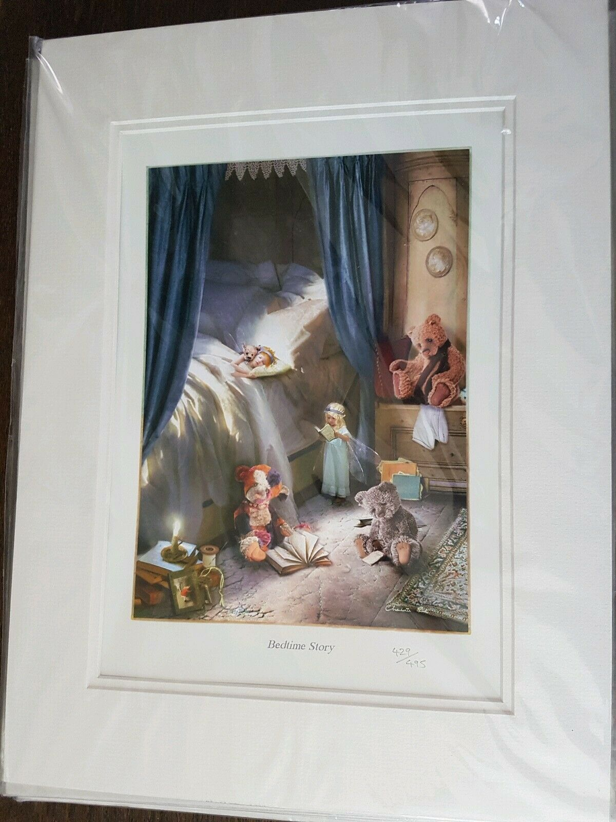 Charlie Bear Limited Edition Art Print 500 Bedtime Story Rare Sealed 16  x 12