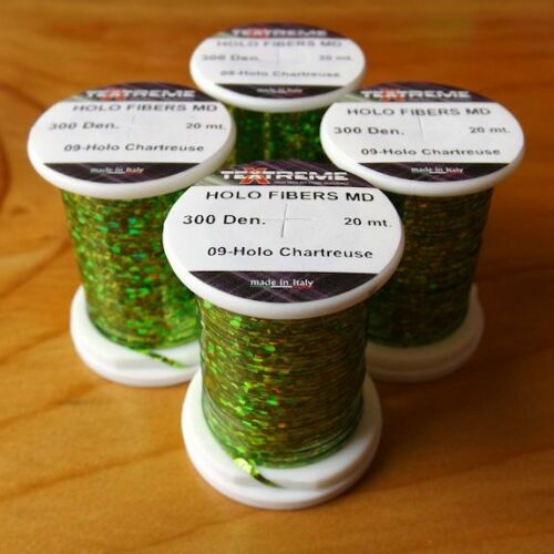 20m Spool ** 2019 Stocks ** MEDIUM Textreme Holographic Tinsel For Fly Tying