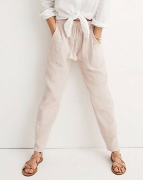 NEW Madewell Caracas Cover-Up Pants SizeM H8169 In Pink
