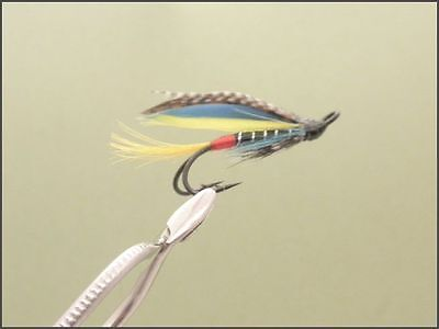 3 X SILVER DOCTOR VARIANT SALMON FLIES DOUBLE HOOK 8,10,12  available