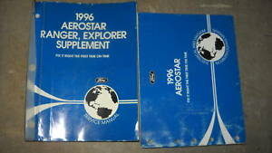 1996 Ford Aerostar VAN Service Shop Repair Manual Set W ...