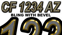 Bling Custom Boat Registration Numbers Decals Vinyl Lettering Stickers Uscg