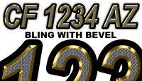 Custom Bling Custom Boat Registration Numbes Decals Vinyl Lettering Stickers
