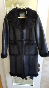 Trench Women's Leather Winter Coat Vintage Ogxt0q