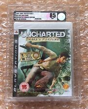 NEW SEALED UNCHARTED ORIGINAL RELEASE PS3 SONY PLAYSTATION 3 VGA / UKG GRADED 85