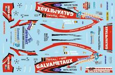 DECALS 1/43 FORD FOCUS WRC - #7 - BOUCHE - RALLYE DU CONDROZ 2014 - D43383