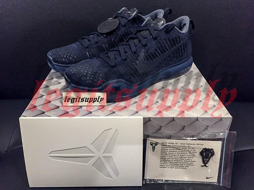 Nike Zoom Kobe 10 x Elite Negro baja FTB Fade to Negro Elite Mamba 8- Obsidian 869458-441 gran descuento d32bb1
