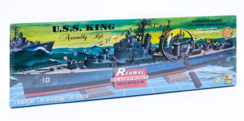 Revell Renwal Blueprint Models Modellbausatz  USS King Schiff Destroyer Leader