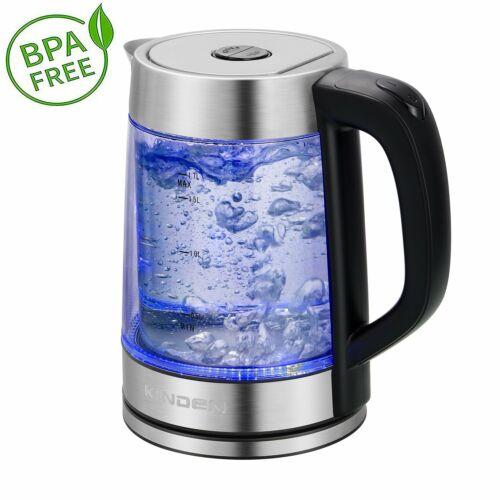 1,7 Liter, 2200 Watt Glas Wasserkocher  Wasserkessel Teekocher  Teekessel