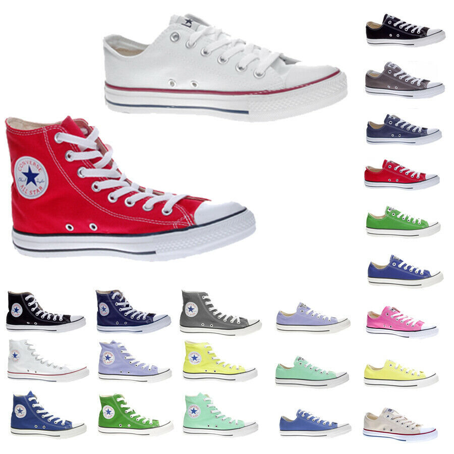 chaussures Converse Chuck Taylor All Star Alte Basse hommes femmes Nuova Collezione
