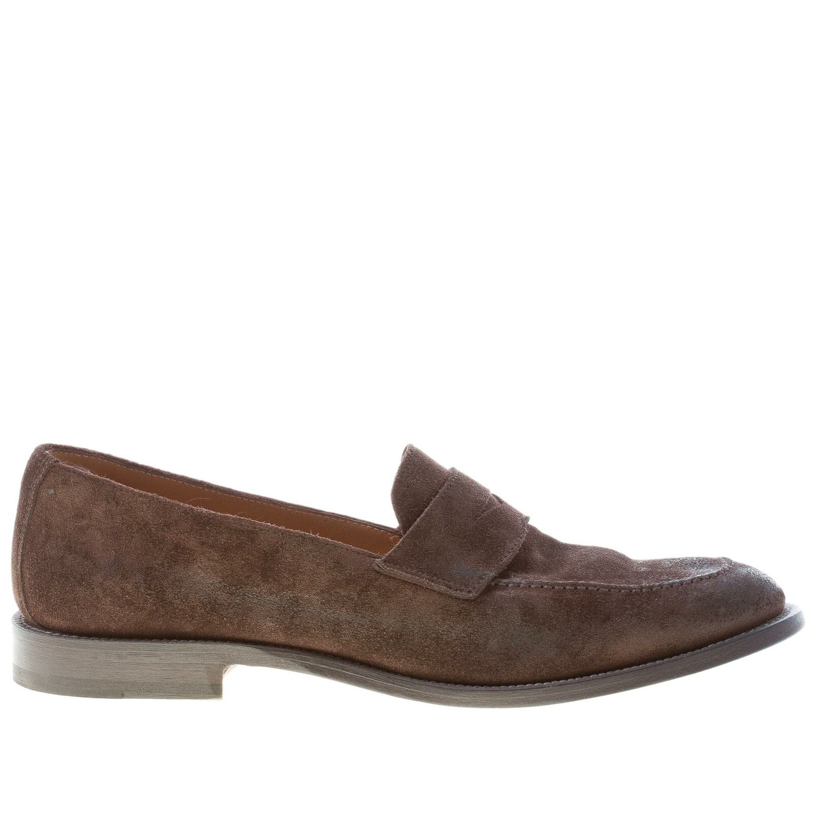 MIGLIORE herren schuhe Antiqued brown veloursleder penny mokassins made in in in  facac0
