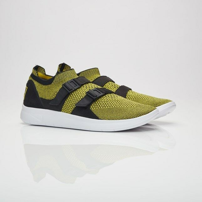 Nike Air Sock Racer Flyknit 898022-700 Yellow Men Size US 11 NEW 100% Authentic