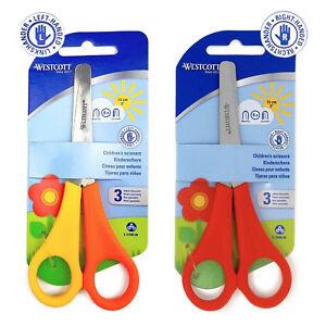 Westcott-Childrens-Scissors-Right-amp-Left-Handed-Safety-Scissors-5-5-034-Carded