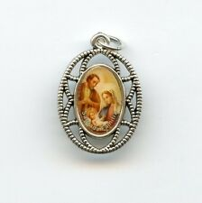 Medaille Hl. Familie Jesus Maria Josef Weihnachten Anhänger Metall 26mm MED 3161
