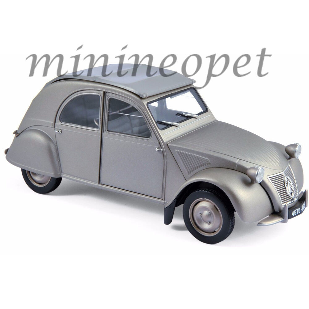 NOREV 181497 1950 50 CITROEN 2CV A 1 18 DIECAST MODEL CAR grau