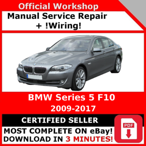 factory workshop service repair manual bmw series 5 f10 2009 2017 rh ebay com bmw factory service manual e90 bmw factory service manual e46