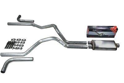 "Ford F-150 87-97 2.5/"" Dual Exhaust Kits Flowmaster Super 44 Slash Tip Side"