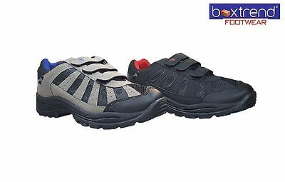 Nett Mens Hiking Boots Trainers Shoes Lace Up Walking Trail Trekking Black Size 7-12
