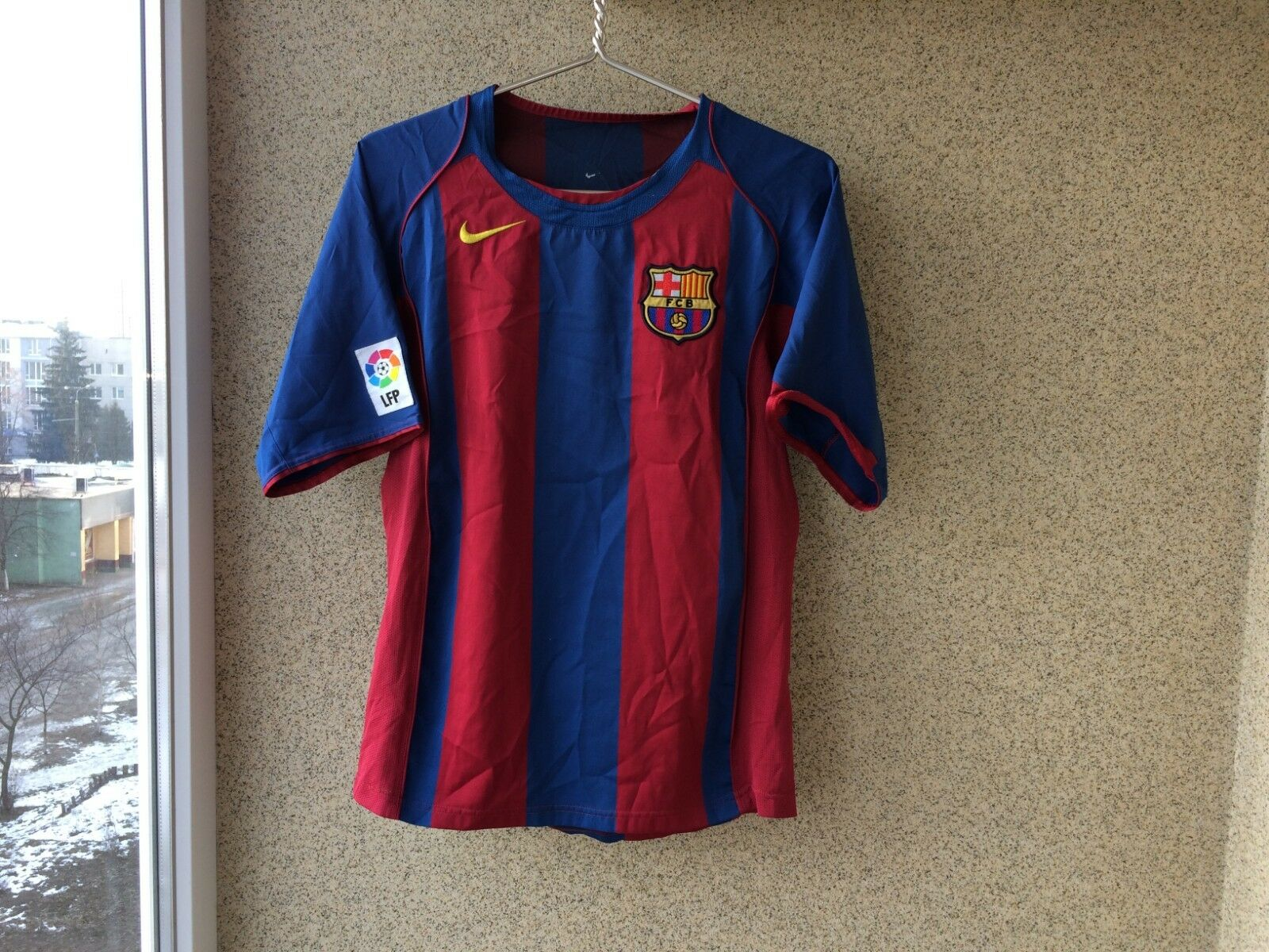 Barcelona Home football shirt 2004 2005 Jersey XS Soccer Nice Camiseta Spain