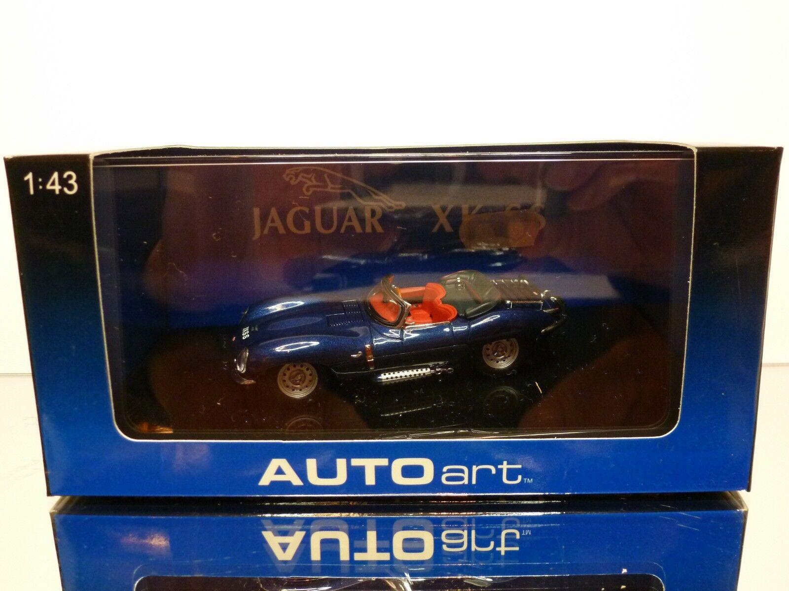 AUTOART 53751 JAGUAR XK SS - blu METALLIC 1 43 - EXCELLENT IN BOX