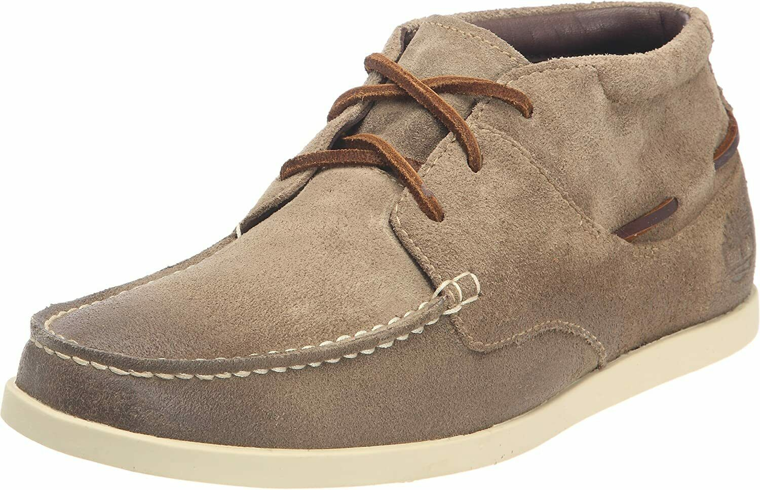 Mens Classic Casual Smart Timberland Chukka Taupe Leather Suede Shoes UK 11 M
