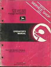 JOHN DEERE 5720 AND 5820 SELF-PROPELLED FORAGE HARVESTERS OPERATORS MANUAL