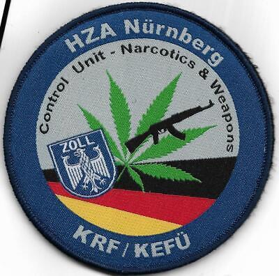 Abzeichen Polizei Patch Klett ZOLL  ZentraleTechnikgruppe ZTZ Customs ZUZ BRUST