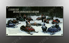 VINTAGE YAMAHA SNOWMOBILES IMAGE BANNER NOS IMAGE REPRODUCTION