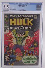 Tales to Astonish #99 CGC 3.5 Unrestored Marvel Hulk Sub-Mariner W O/W Pages
