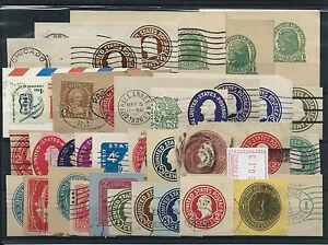 FRANCOBOLLI-1893-STATI-UNITI-USA-LOTTO-RITAGLI-DI-INTERI-POSTALI-D-6046