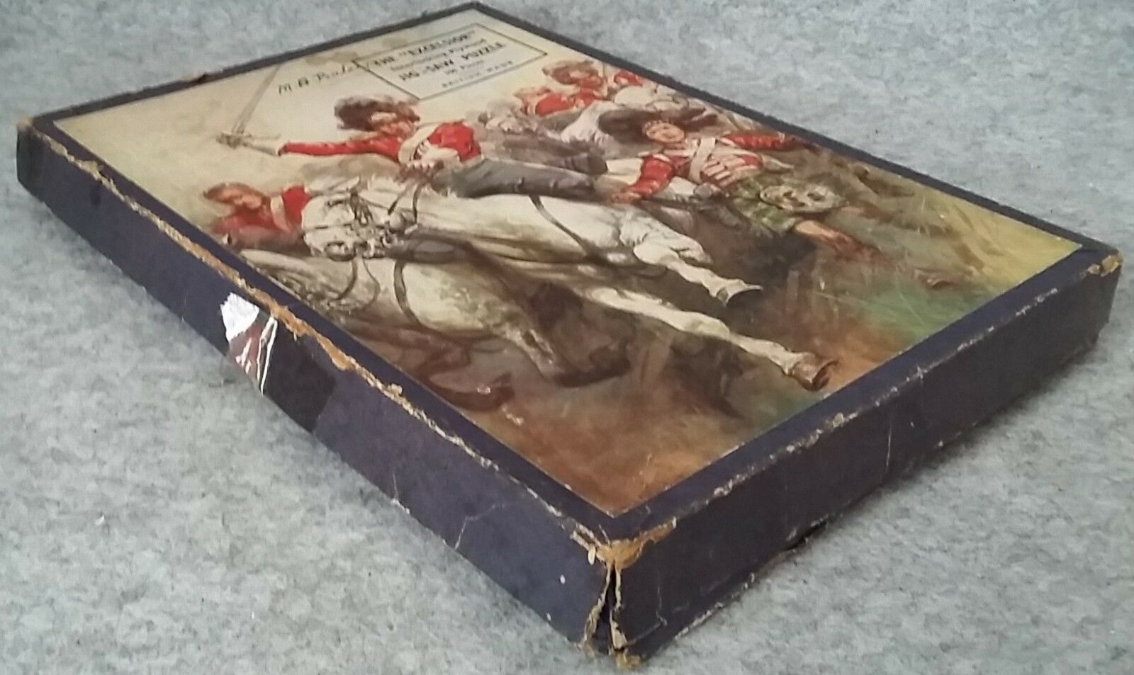 The EXCELSIOR Boxed Wooden Jigsaw Picture Puzzle Early 1900's Antique Gift