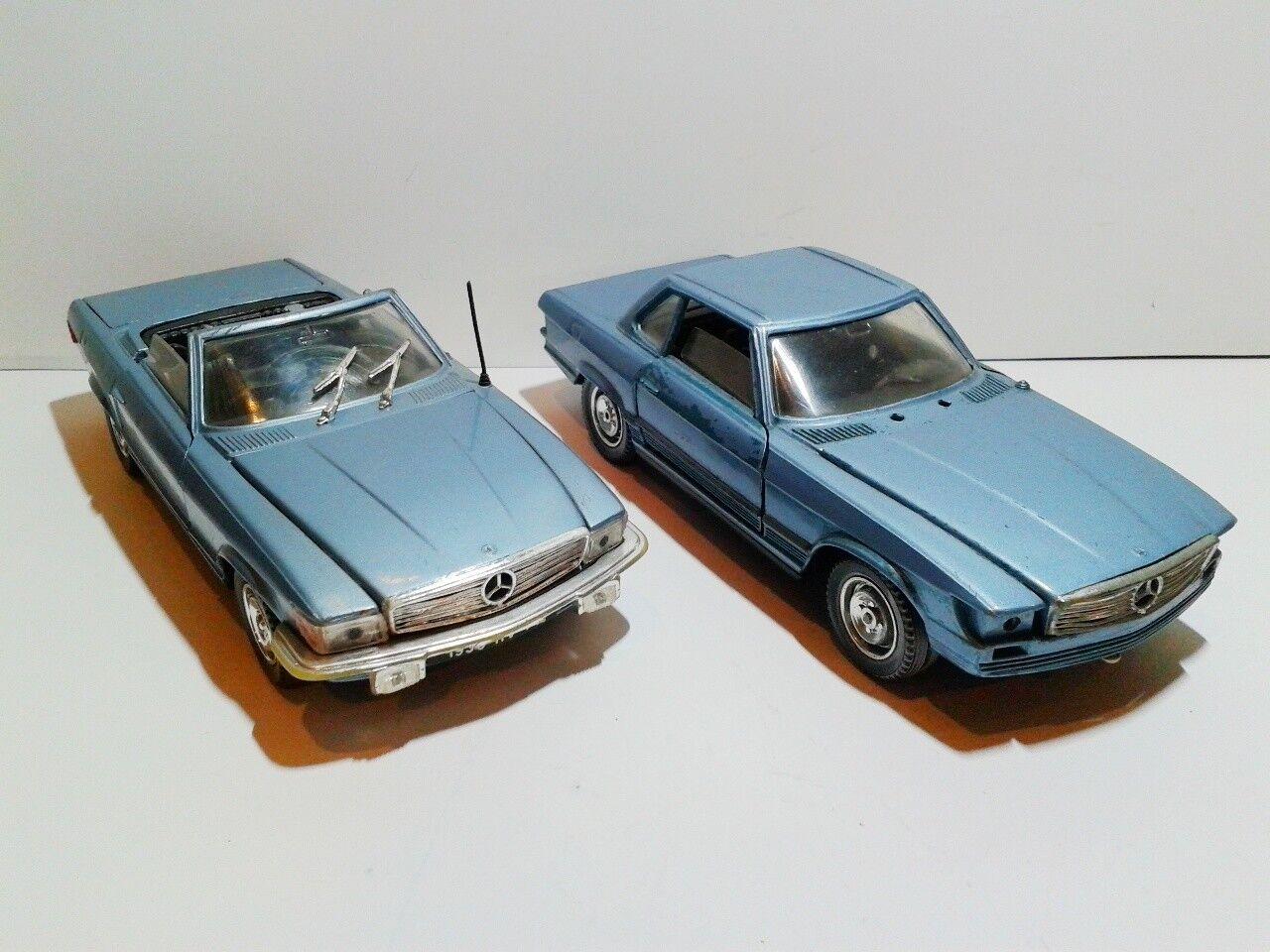 Polistil S86 set of 2  Mercedes 450 SL R107 1 25 used cond. no box die cast