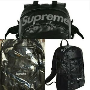 huge discount 350a9 0a96d Image is loading Supreme-Backpack-100D-Cordura-Black-FW17