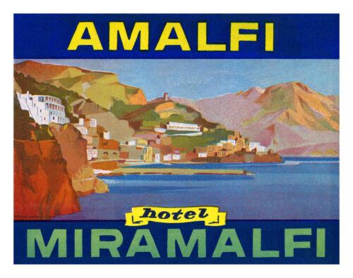 HOTEL MIRAMALFI AMALFI COAST, ITALY Vintage Travel Poster A1A2A3A4Sizes
