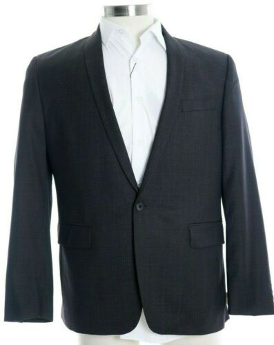 Slim knops sportjas 1 gestreepte 100 Iii blazer Bar wol 42s Pindot Fit Charcoal fq1Rxpn