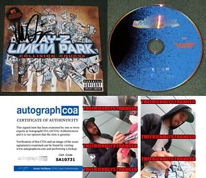 Rare-MIKE-SHINODA-signed-JAY-Z-LINKIN-PARK-034-COLLISION-COURSE-034-DVD-PROOF-ACOA