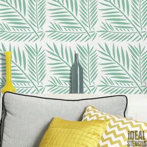 Image Is Loading Tropical Fern Leaf Pattern Stencil Home Decor Wall