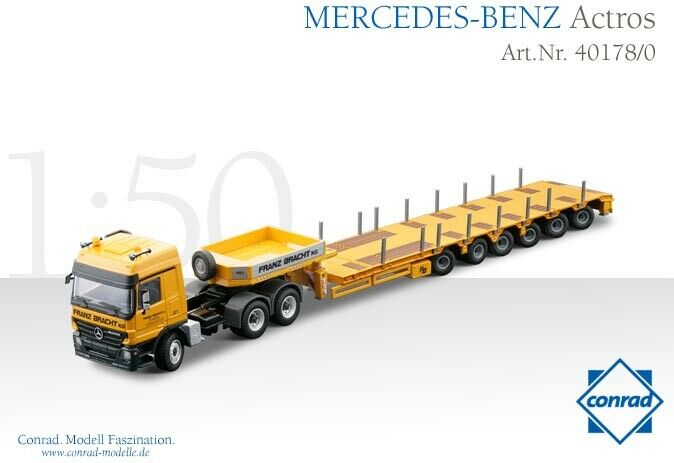 Conrad 40178 Mercedes-Benz Actros w orohofer STZH6 Lowboy BRACHT 1 50 MIB