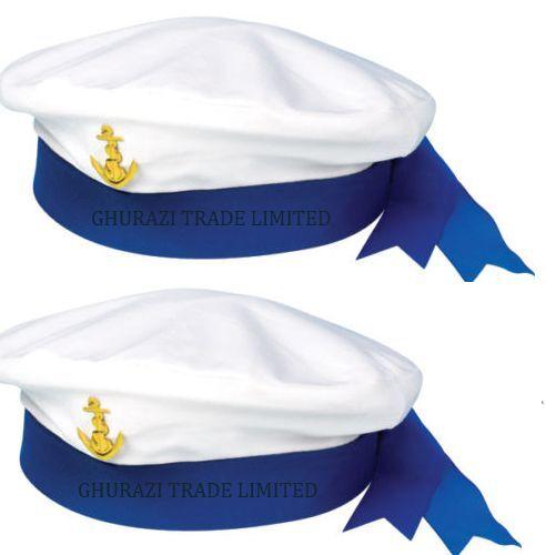 X2 Femme Homme Marin Chapeau de marin marine matelot marine capitaines Fancy Dress Hat