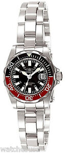 Invicta-7061-Black-Dial-Stainless-Steel-Women-039-s-Watch