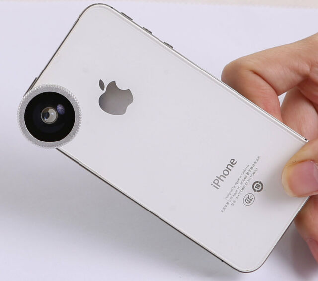 180°Fish Eye Lens for Apple iPhone 6S 6plus 5S  Mobile iPod MacBook Air