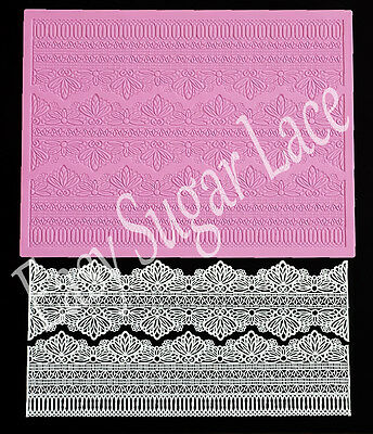 Silicone Serenity 3d Cake Lace Mat Mold For Edible Sugar