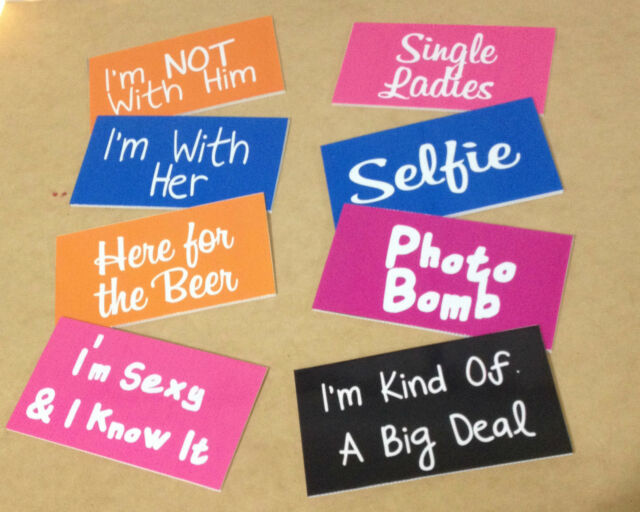 8 x Photo Booth Props Wording Speech Wedding Baby Shower Party