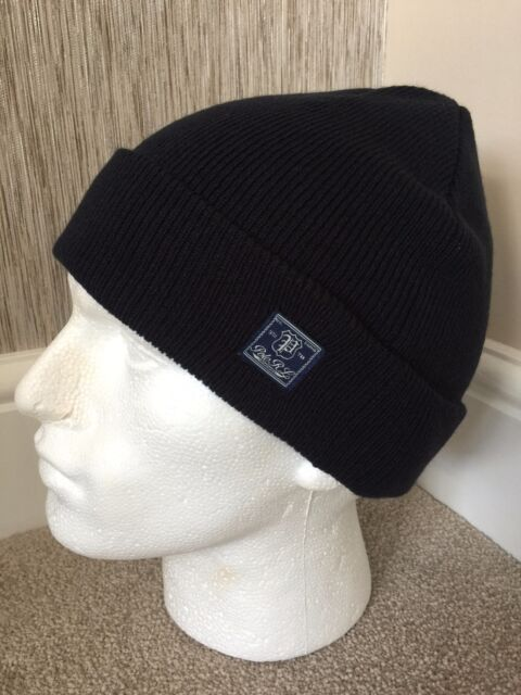 54ab96aeb51 Ralph Lauren Mens Navy Warm Double Layer Ribbed Hat Fold Back Cuff ...
