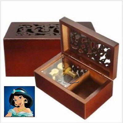 Artisanal { ALADDIN } Wooden Music Box ♫ A WHOLE NEW WORLD ♫