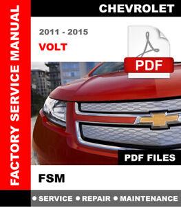 CHEVROLET VOLT 2011 - 2015 FACTORY SERVICE REPAIR MANUAL + WIRING DIAGRAMS  | eBay | Chevrolet Volt Wiring Diagram |  | eBay