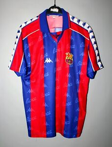 low priced 10bea a31c1 Details about BARCA BARCELONA SPAIN 1992/1995 HOME FOOTBALL SHIRT JERSEY  CAMISETA KAPPA SIZE S