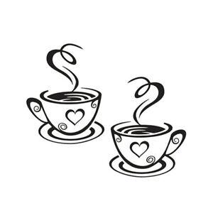 Kueche-Kaffe-Coffee-Tasse-Wandtattoo-Wandsticker-Aufkleber-Kueche-Sticker